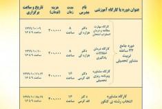 دوره های مجازی آنلاین در حیطه شغلی و تحصیلی در دی ماه ۱۳۹۹